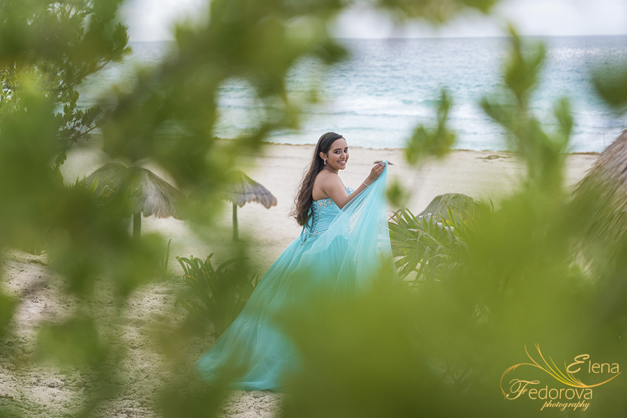 quinceanera photo shoot cancun