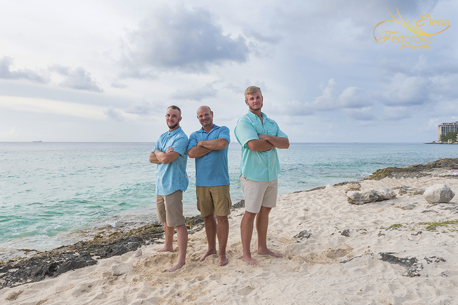 family beach vacation in cozumel