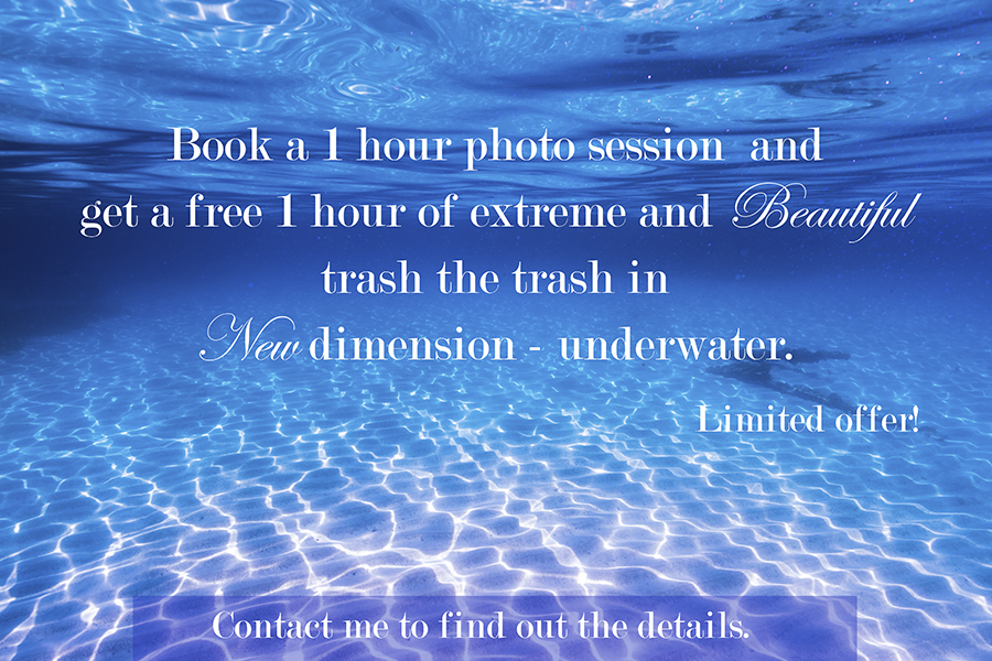 free underwater photo session in cancun
