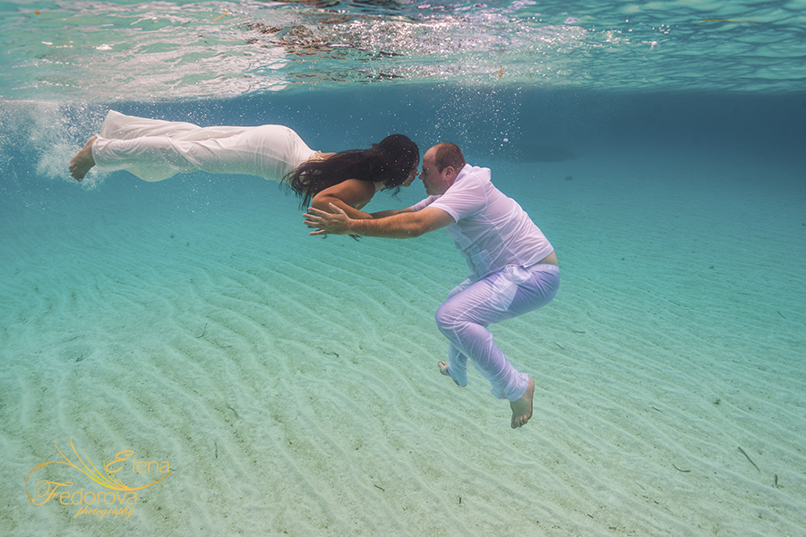 underwater photo shoot in sea