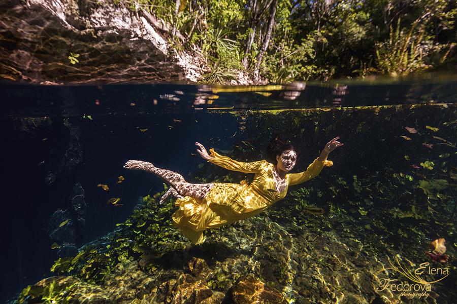 underwater photography cenotes riviera maya