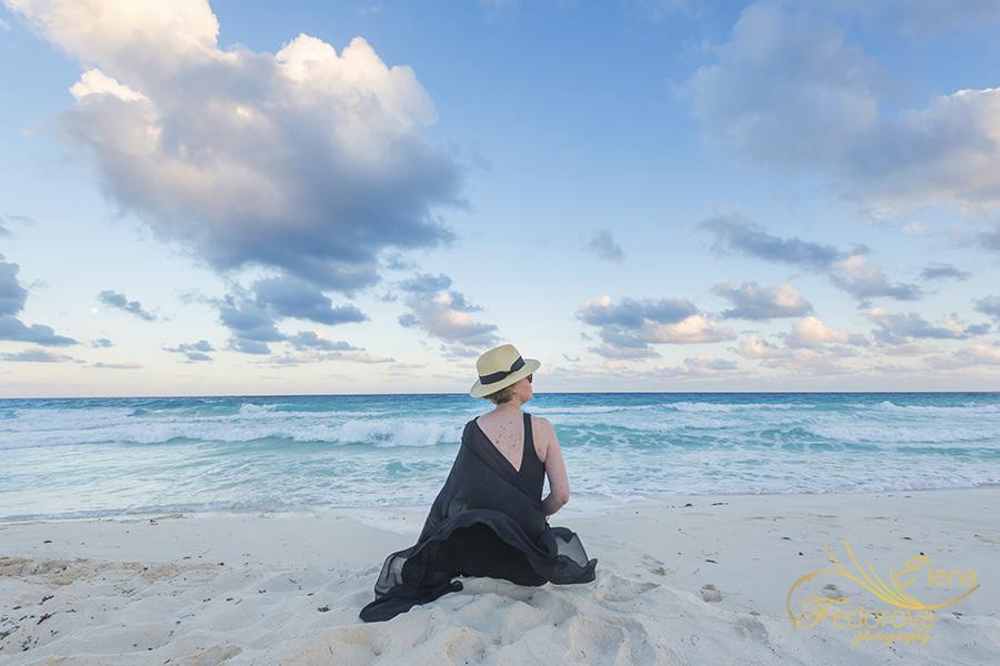 birthday photo session on beach