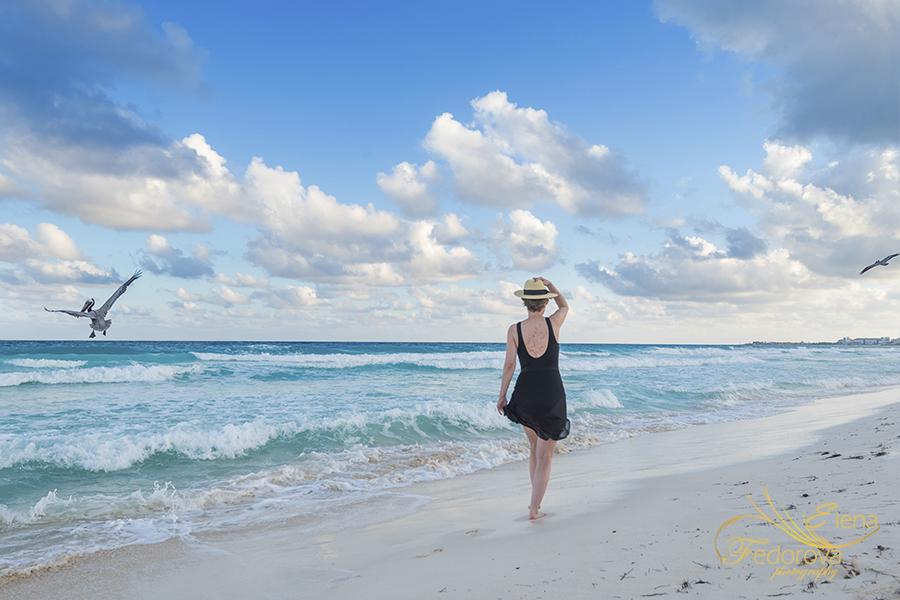 cancun beach photo shoot
