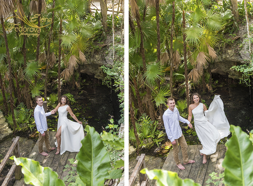 honeymoon photo session in cenotes