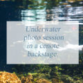 Underwater photo session in a cenote backstage.