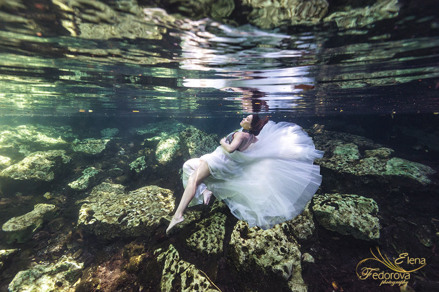 underwater fashion photo shoot