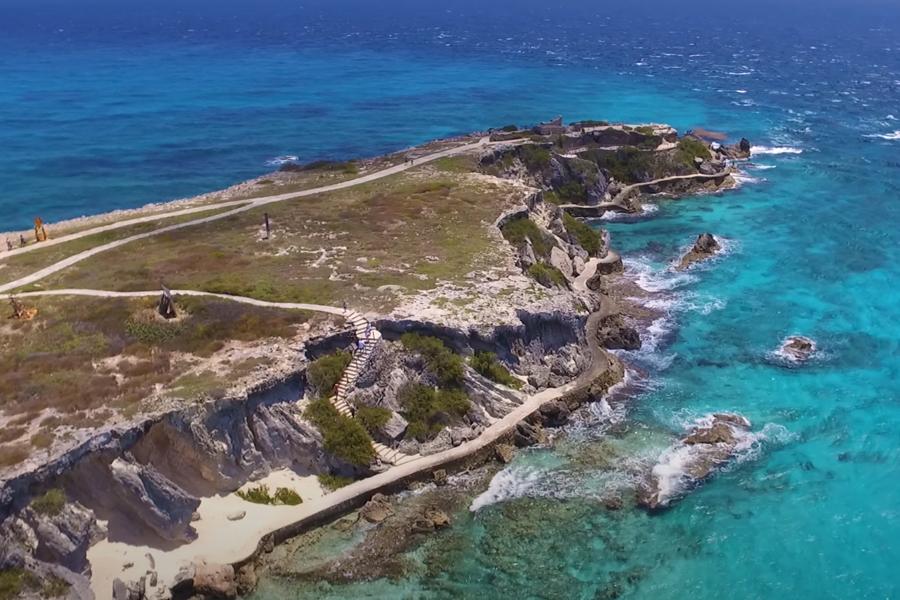 punta sur isla mujeres drone