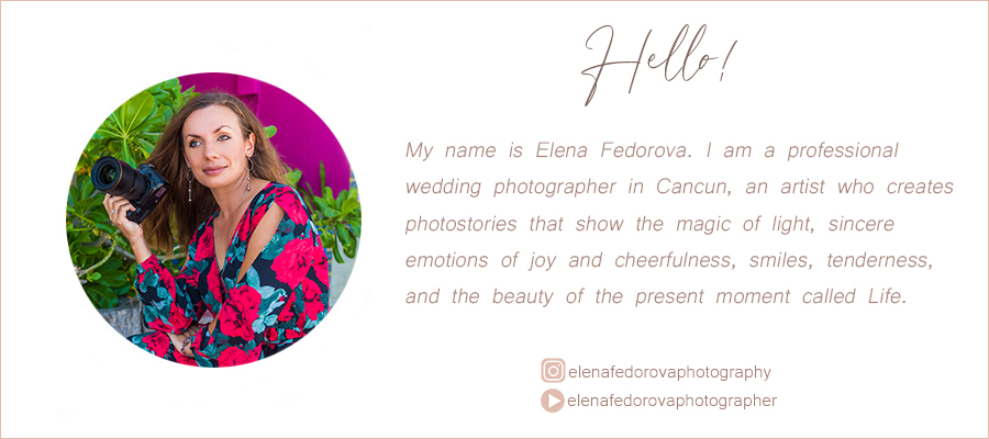hello i am elena fedorova photographer