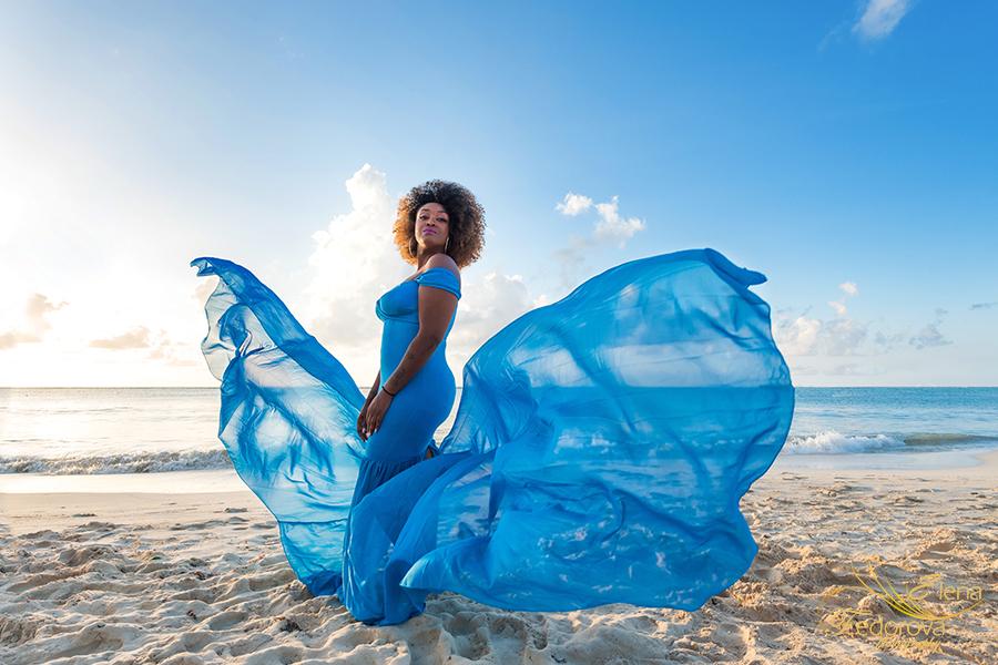 flying dress photo shoot cancun