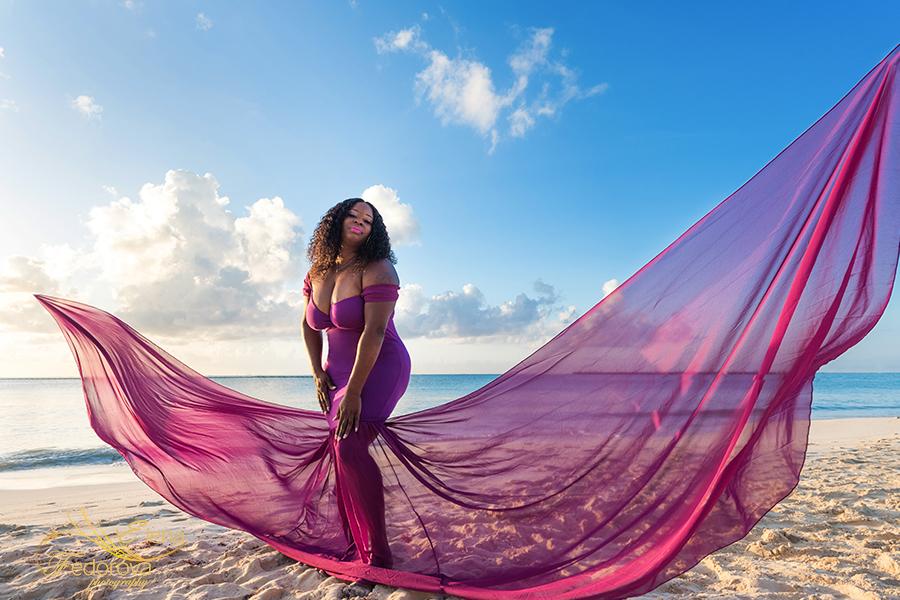 flying dress photography playa del carmen