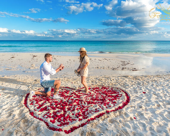 Secret beach proposal in Playa del Carmen