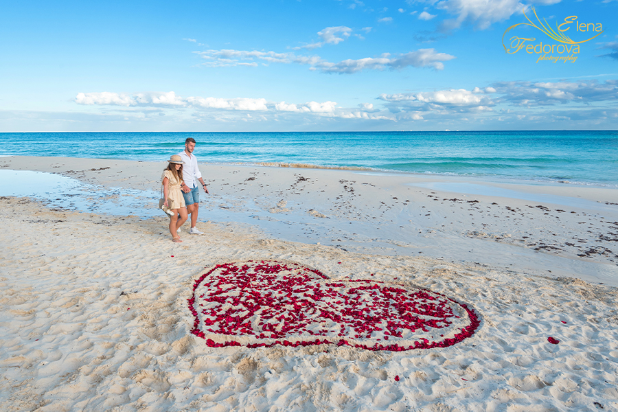 surprise proposal beach