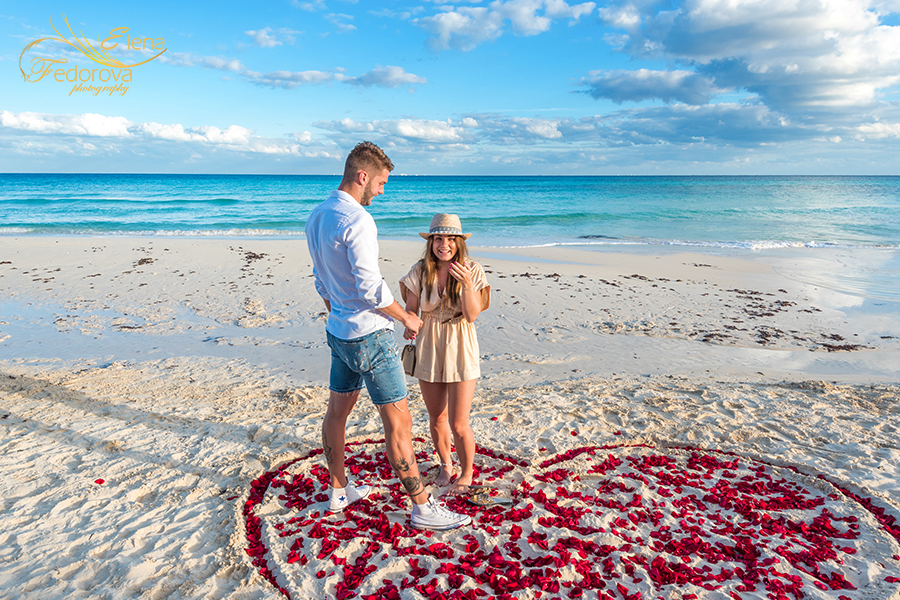 surprise proposal playa del carmen