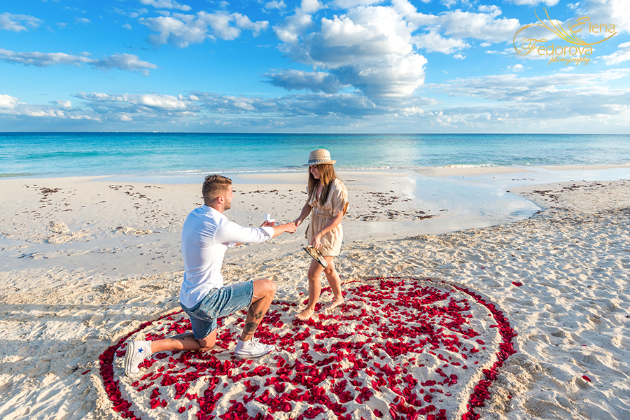 will you marry me proposal playa del carmen