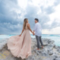 Beach engagement photoshoot in Cancun.