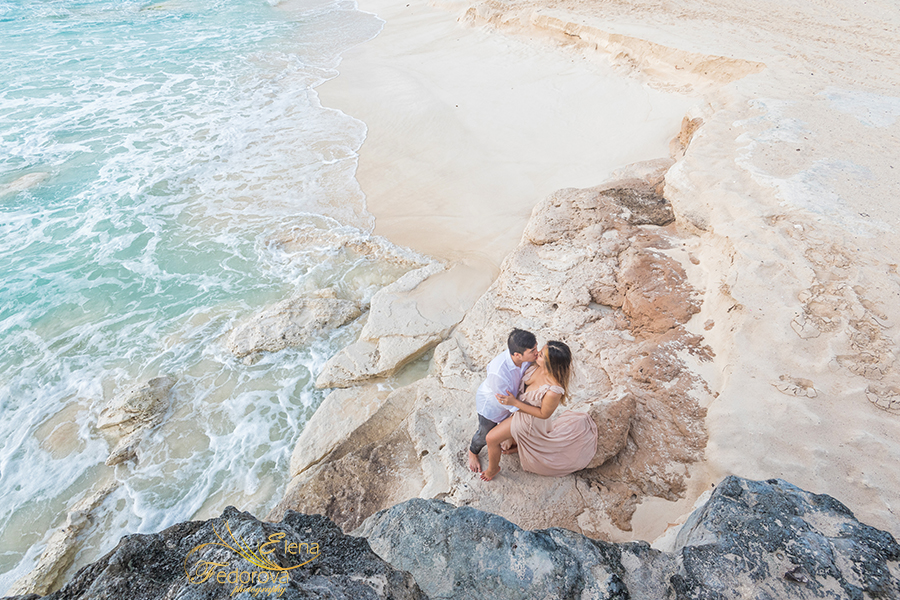 cancun beach engagement photoshoot mexico