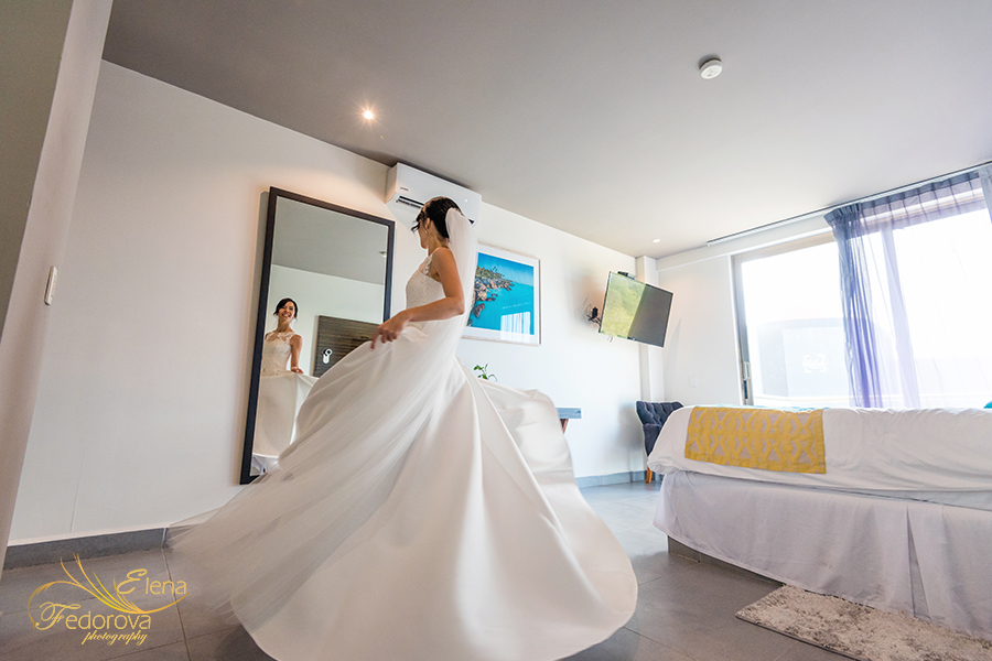 cancun mexico elopement hotel kabah