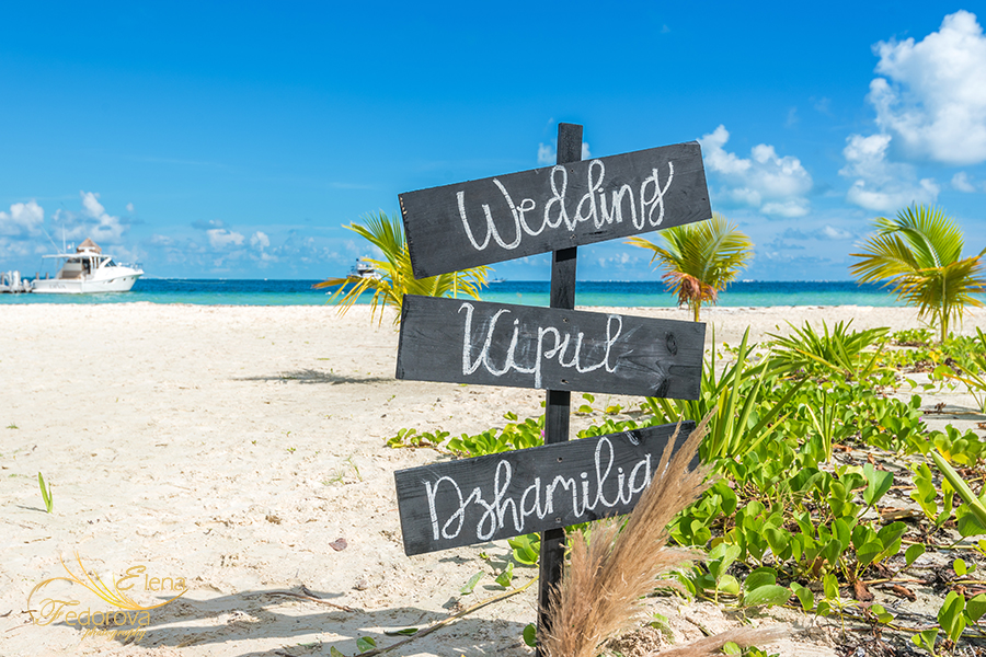 elopement beach cancun