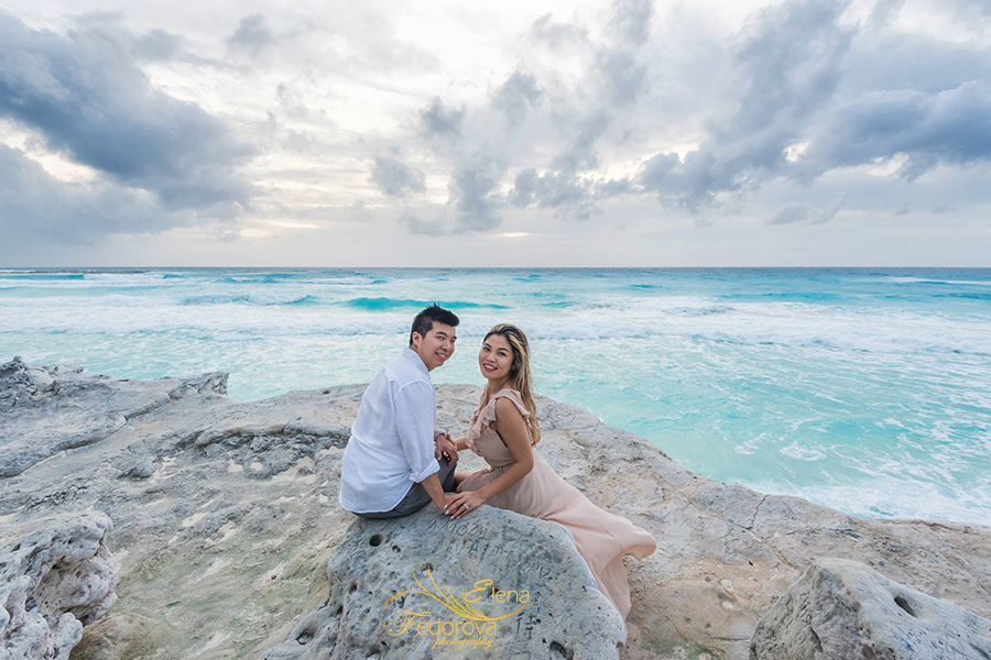 engagement photoshoot caribbean sea