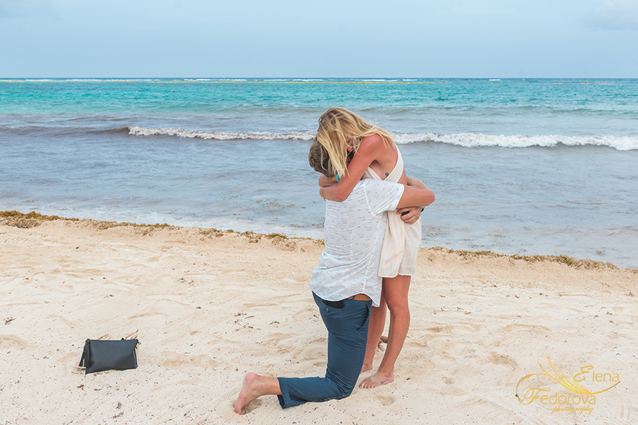 how to propose in akumal mexico