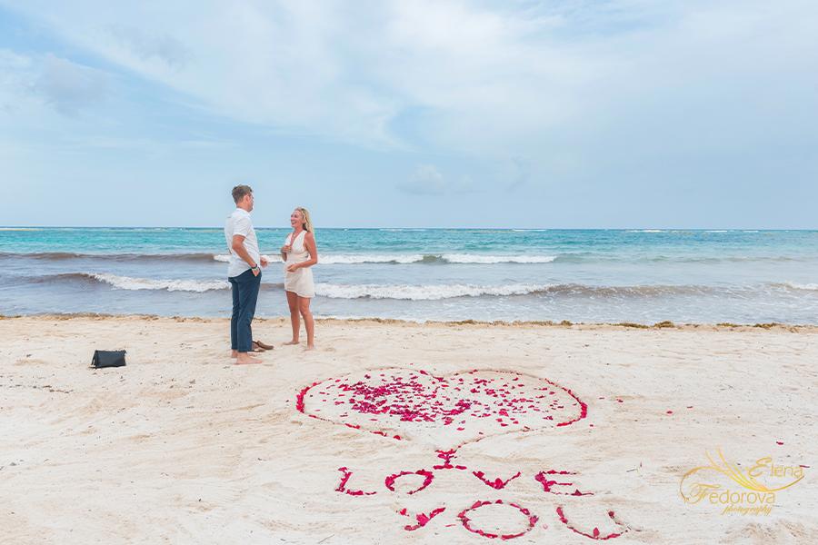 marriage proposal in akumal