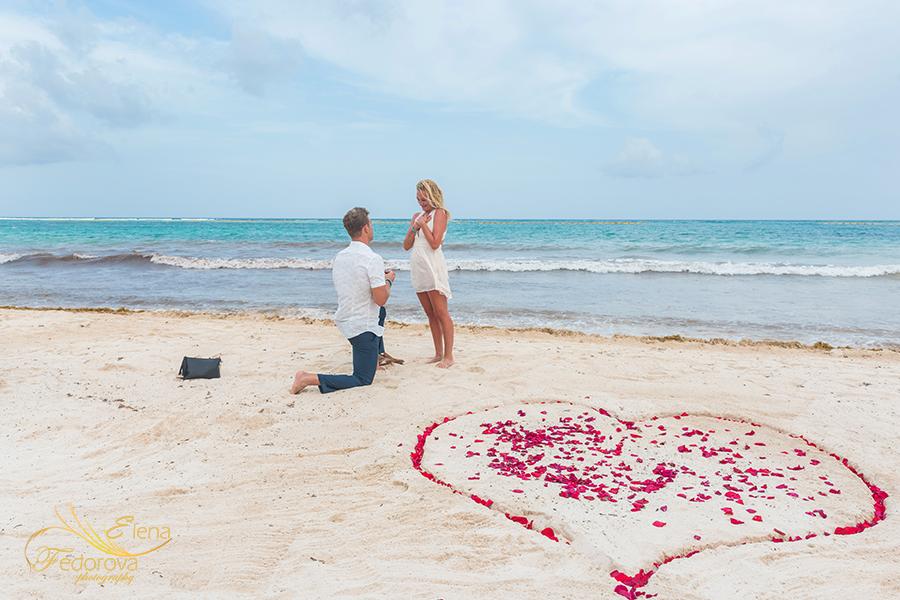 proposal in akumal