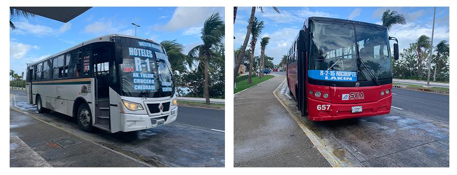 public buses cancun ruta