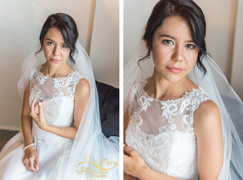 stunning bridal portrait cancun