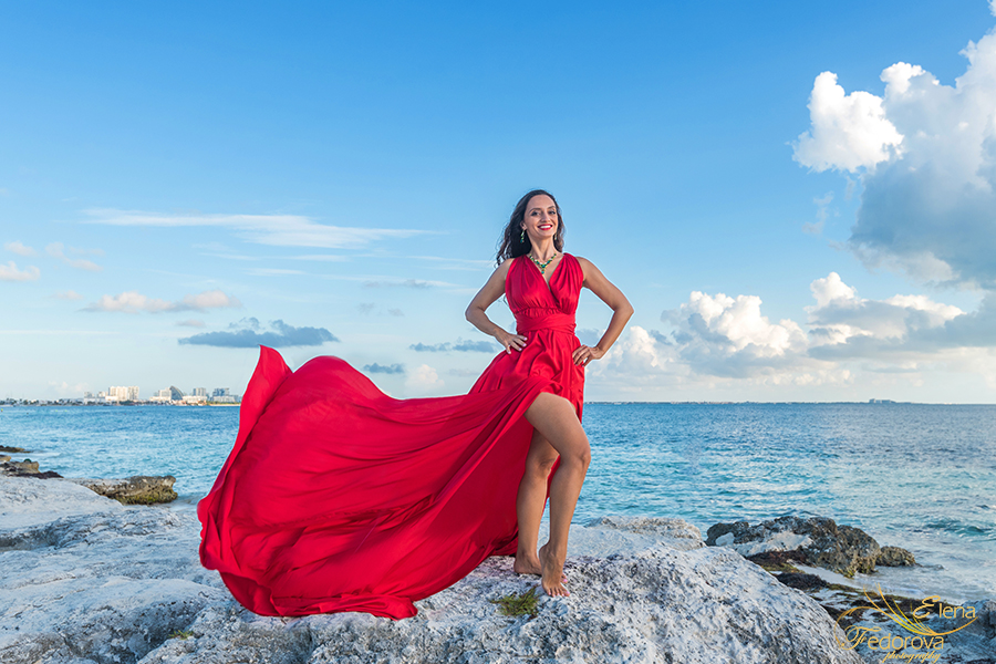 amazing flying dress red