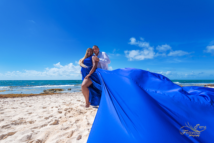 cancun flying dress photoshoot