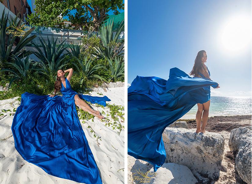 feminine photography in flowy dress