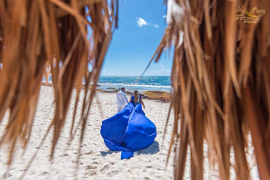 flowy dress couple photos beach