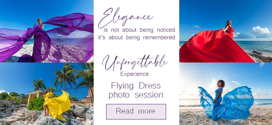 flying dress photoshoot