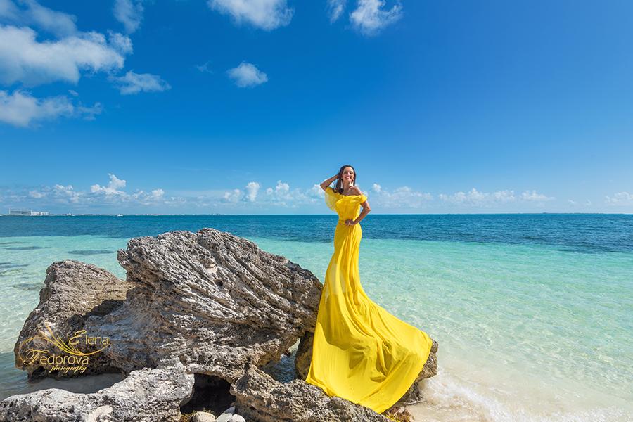 yellow flying dress